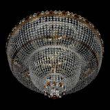 Большая люстра Хрустальный Каскад Дворцовый чайный