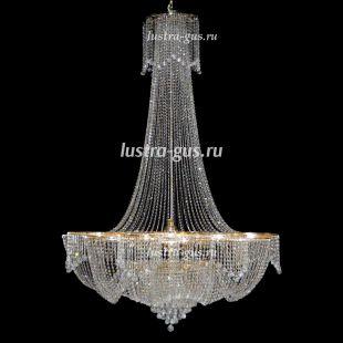 Люстра длинная Лотос 36 ламп