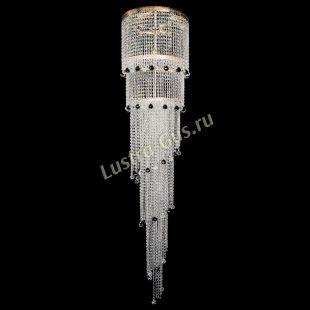 Каскадная люстра высотой от 2 м Милан каскад шар черный