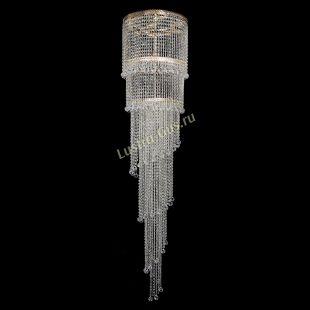 Каскадная люстра высотой от 2 м Милан каскад