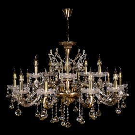 Люстра под бронзу Венеция №1 - 15 ламп под бронзу