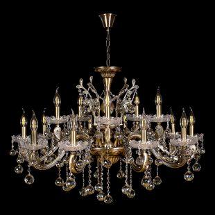 Люстра под бронзу Люстра Венеция №1 - 15 ламп под бронзу