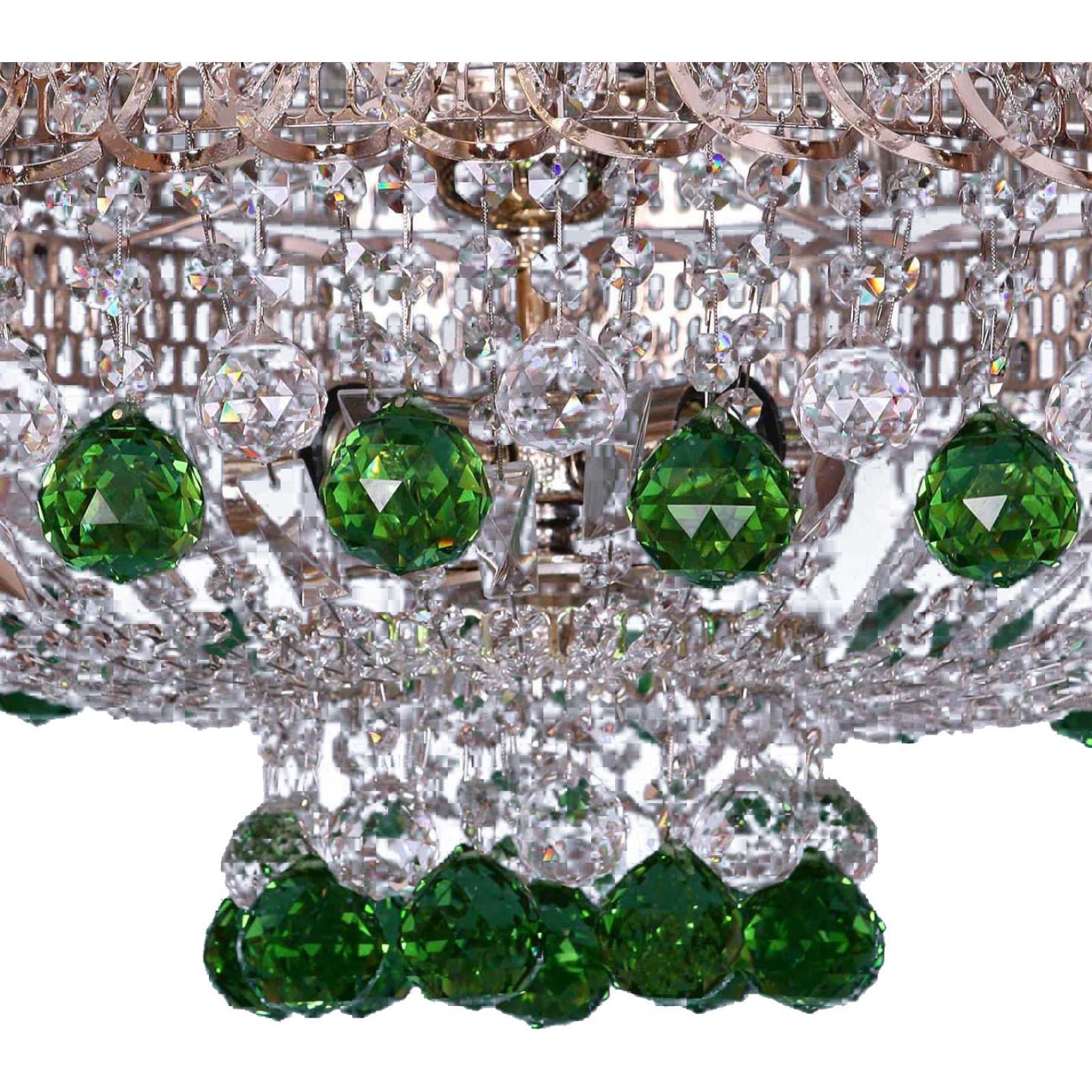 Хрустальная люстра Катерина шар зеленая