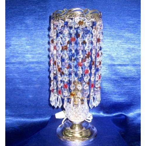 Лампа настольная Анжелика 2 Меланж карандаш цветная Гусь Хрустальный