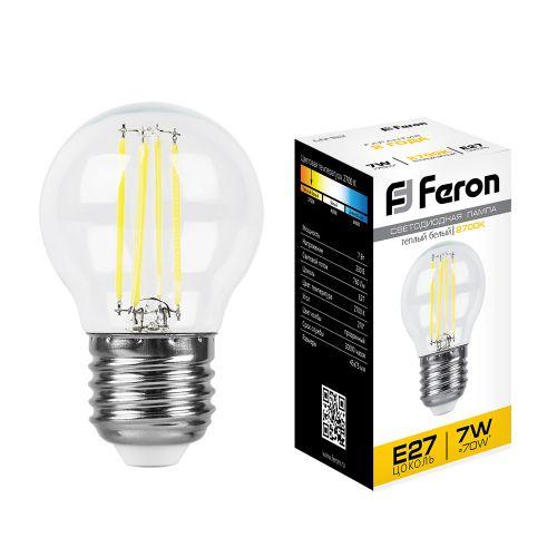 Лампа светодиодная Ferron LB-52 Шарик, белый теплый свет, 7 W