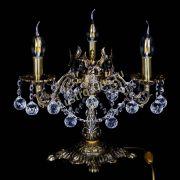 Бронзовая настольная лампа Муза №3 шар