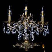 Бронзовая настольная лампа Муза №3 журавлик
