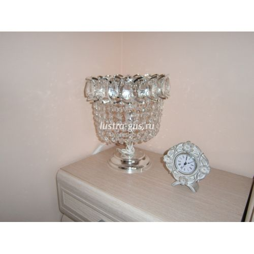 Настольная лампа Катерина № 2, цвет серебро - фото покупателя, Люстры Гусь Хрустальный