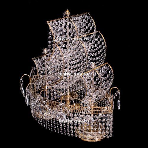 Настольная лампа Корвет №1 - 2 лампы Гусь Хрустальный