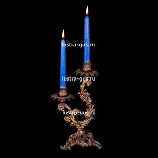 Подсвечник из бронзы Изабелла 2 свечи