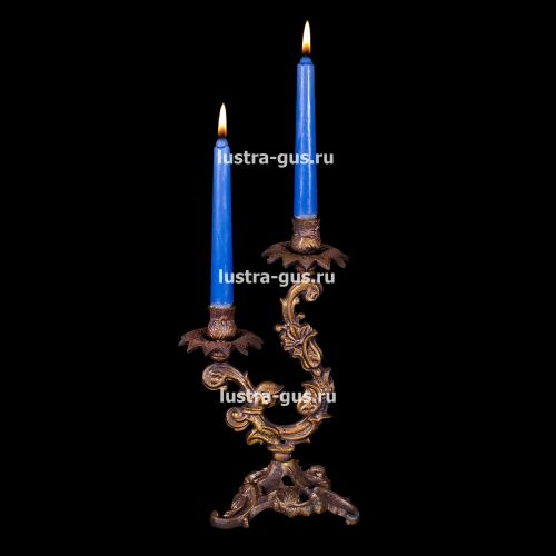Подсвечник Изабелла 2 свечи Гусь Хрустальный