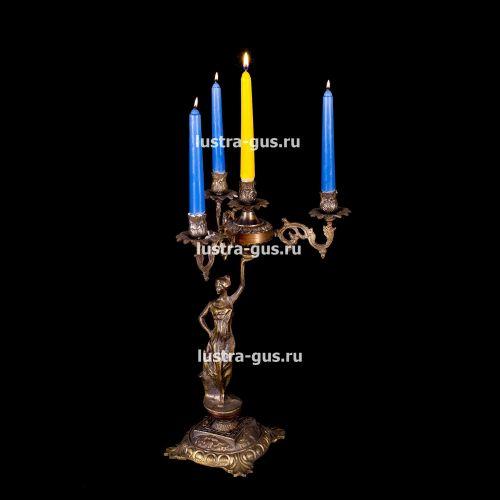 Подсвечник Изабелла богиня 4 свечи