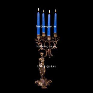 Подсвечник из бронзы Изабелла богиня 2 - 4 свечи