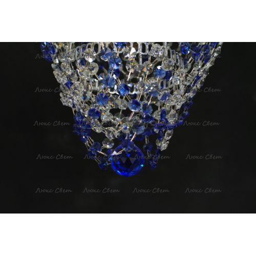 Люстра Малинка обтикон синяя