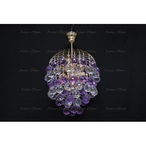 Люстра Хрустальные брызги шар 40 мм фиолетовая