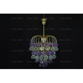 Хрустальные брызги шар 40 мм фиолетовая