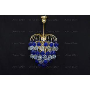 Люстра Хрустальные брызги шар 40 синяя