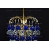 Люстра Хрустальные брызги шар-40 синяя
