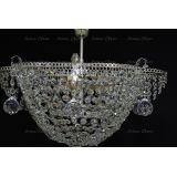 Люстра Ромашка подсолнух подвесная, цвет фурнитуры: серебро