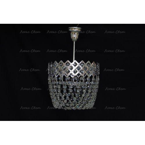 Люстра Корона № 4 подвесная, цвет фурнитуры: серебро, Люстры Гусь Хрустальный