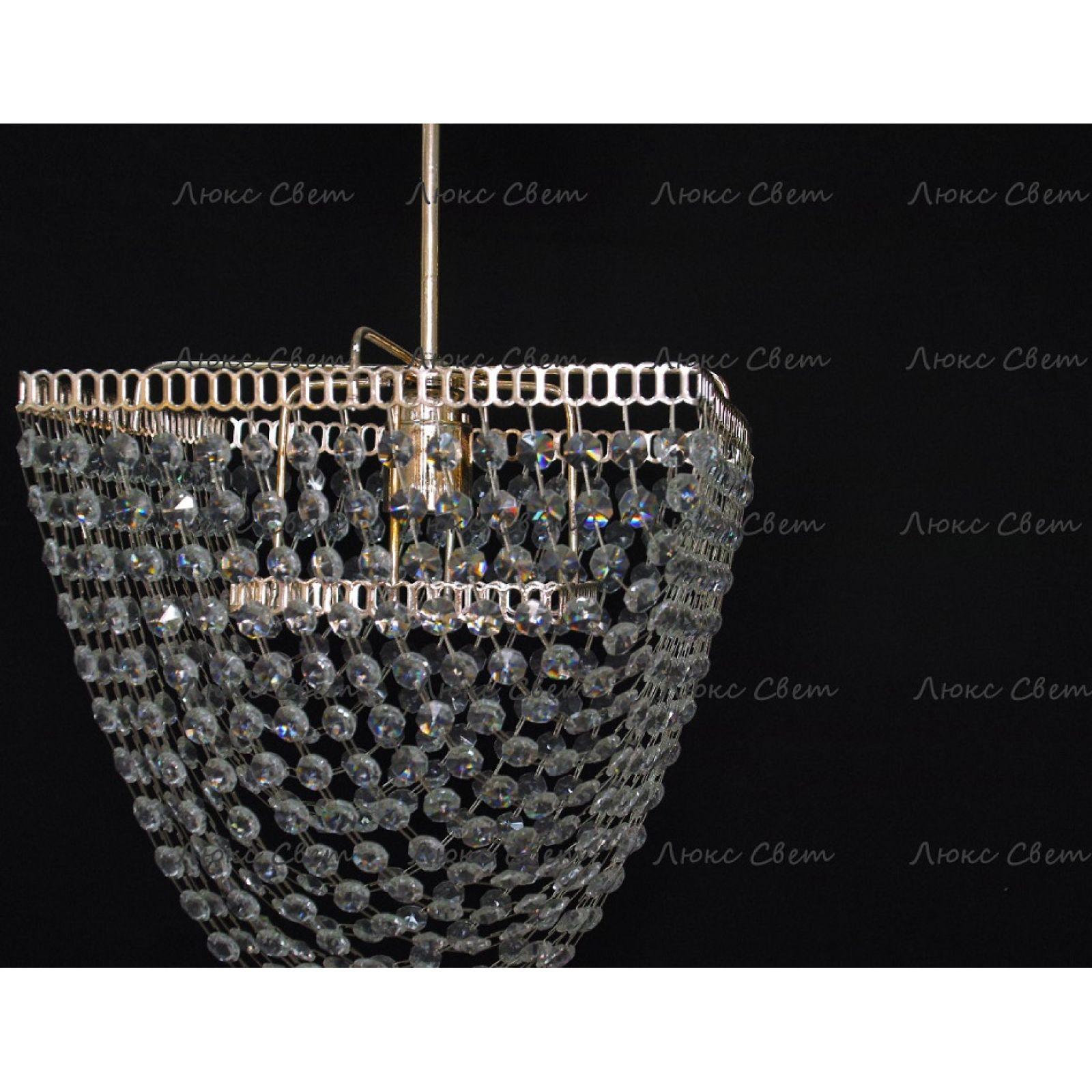 Хрустальная люстра Квадрат 1 лампа Ракушка подвес