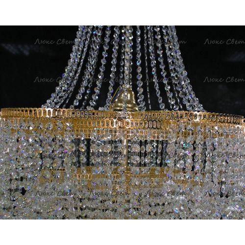 Люстра Лотос с подвесом диаметр 1000 мм высота1500 мм Гусь Хрустальный