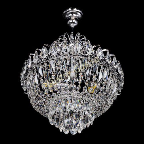 Люстра Астра 3 лампы с подвесом Гусь Хрустальный
