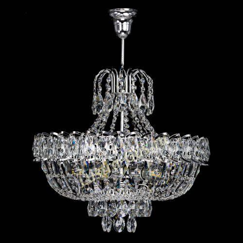 Люстра Люстра Астра с подвесом, диаметр - 400 мм, цвет - серебро, Люстры Гусь Хрустальный