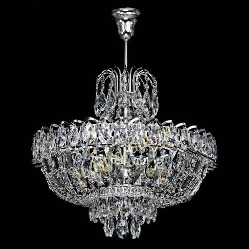 Люстра Люстра Астра с подвесом, диаметр - 400 мм, цвет - серебро Гусь Хрустальный