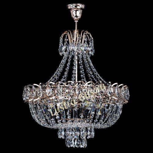 Люстра Люстра Астра с подвесом, диаметр - 450 мм, цвет - золото Гусь Хрустальный