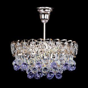 Люстра подвесная Астра шар фиолетовая 1 лампа