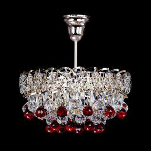 Люстра подвесная Астра шар красная 1 лампа