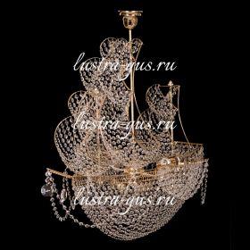 Люстра корабль в хрустале Черная Жемчужина