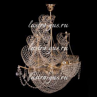 Люстра корабль в хрустале Люстра Черная Жемчужина