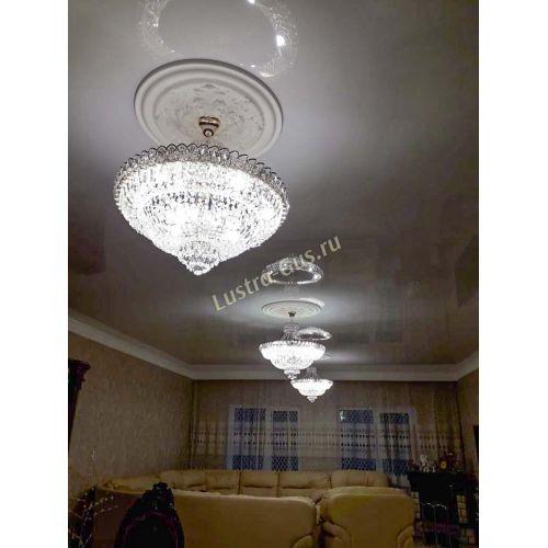 Люстра Хрустальный Каскад №1 с подвесом, диаметр - 700 мм, фото покупателя Гусь Хрустальный