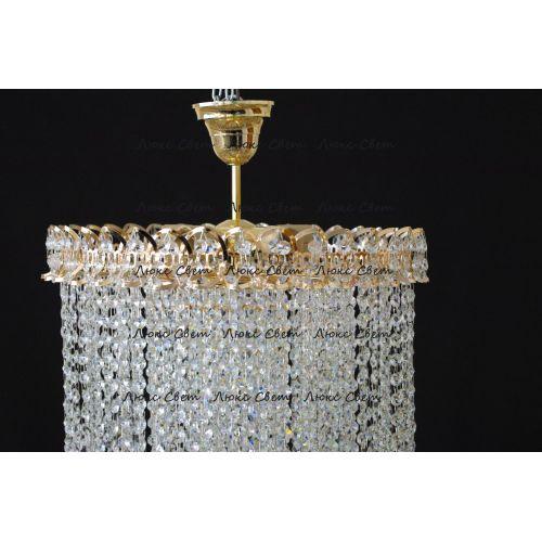 Люстра Капель 5 ламп шар 30 см длинная