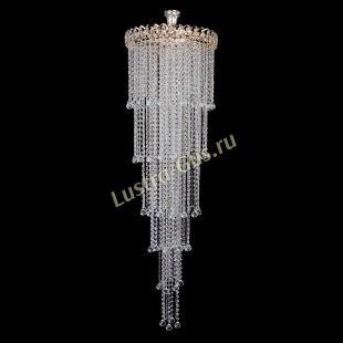 Люстра для лестницы Капель 5 ламп шар 30 см длинная