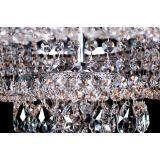 Подвесная люстра Кольцо №1, цвет фурнитуры: серебро, Люстры Гусь Хрустальный