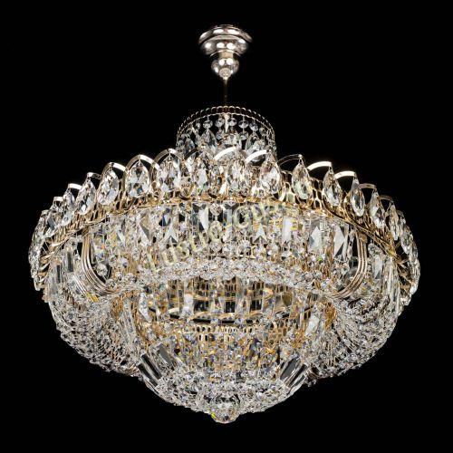 Люстра Кольцо Классика с подвесом, диаметр - 500 мм, цвет - золото Гусь Хрустальный