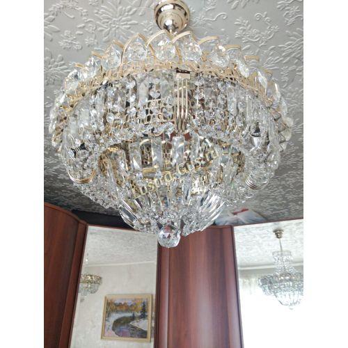 Люстра Кольцо Классика с подвесом, диаметр - 400 мм, фото покупателя Гусь Хрустальный