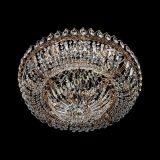 Люстра Кольцо Классика с подвесом, диаметр - 600 мм, цвет - золото, Люстры Гусь Хрустальный