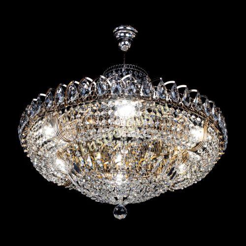 Люстра Кольцо Классика с подвесом, диаметр - 600 мм Гусь Хрустальный