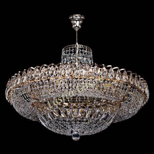 Люстра Кольцо Классика подвесом, диаметр - 700 мм, цвет - золото Гусь Хрустальный