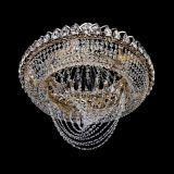 Люстра Кольцо Классика Веер, диаметр - 600 мм, цвет - золото, Люстры Гусь Хрустальный