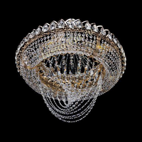 Люстра Кольцо Классика Веер, диаметр - 600 мм, цвет - золото Гусь Хрустальный