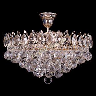 Люстра подвесная Корона Капель шар