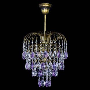 Люстра Лора №3 под бронзу фиолетовая