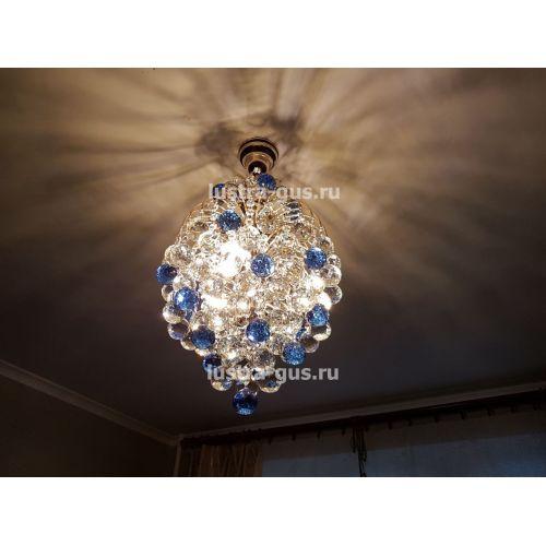 Люстра Лора Шар 40, золото, фото покупателя, Люстры Гусь Хрустальный