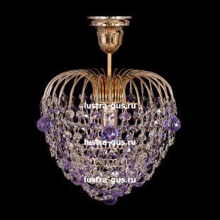 Люстра подвесная Малинка шар фиолетовая