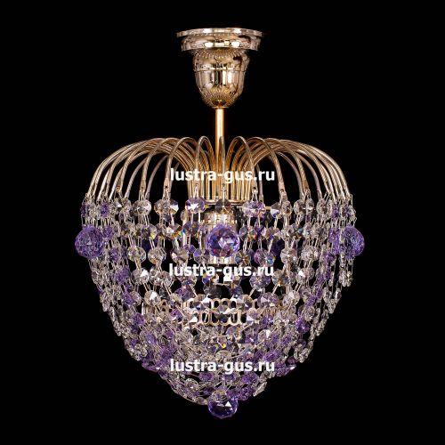 Люстра Малинка шар фиолетовая